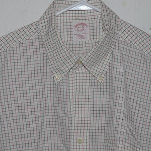 Brooks brothers dress mens shirt size 16 1/2 J899